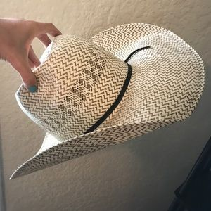 AMERICAN HAT CO. Straw Hat 7 1/4